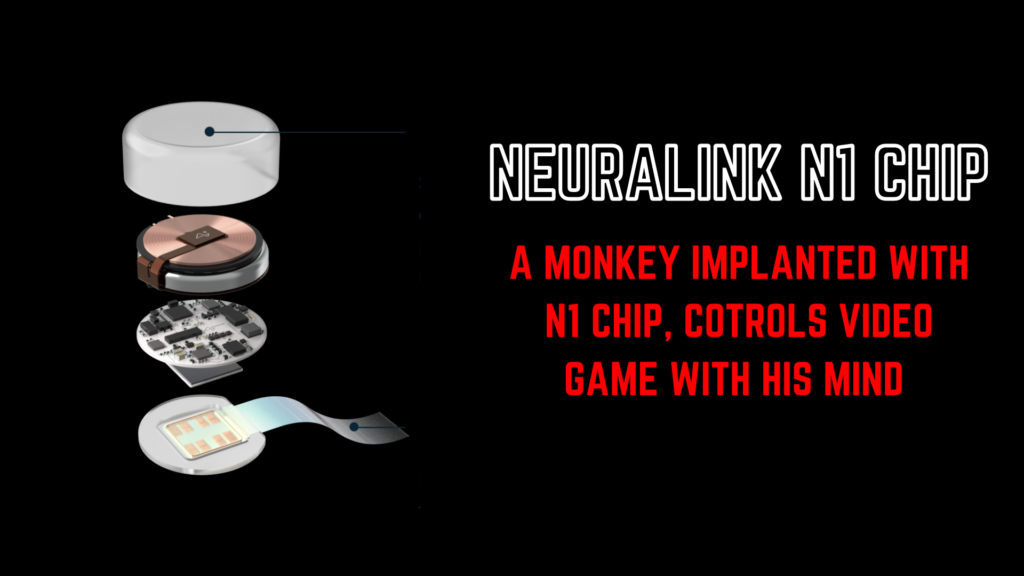 Neuralink chip implanted in a monkey brain who controls a video game without controller with his mind